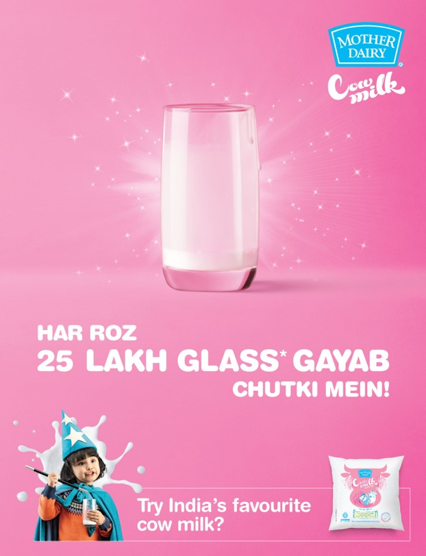 Mother dairy cow milk is great tasting